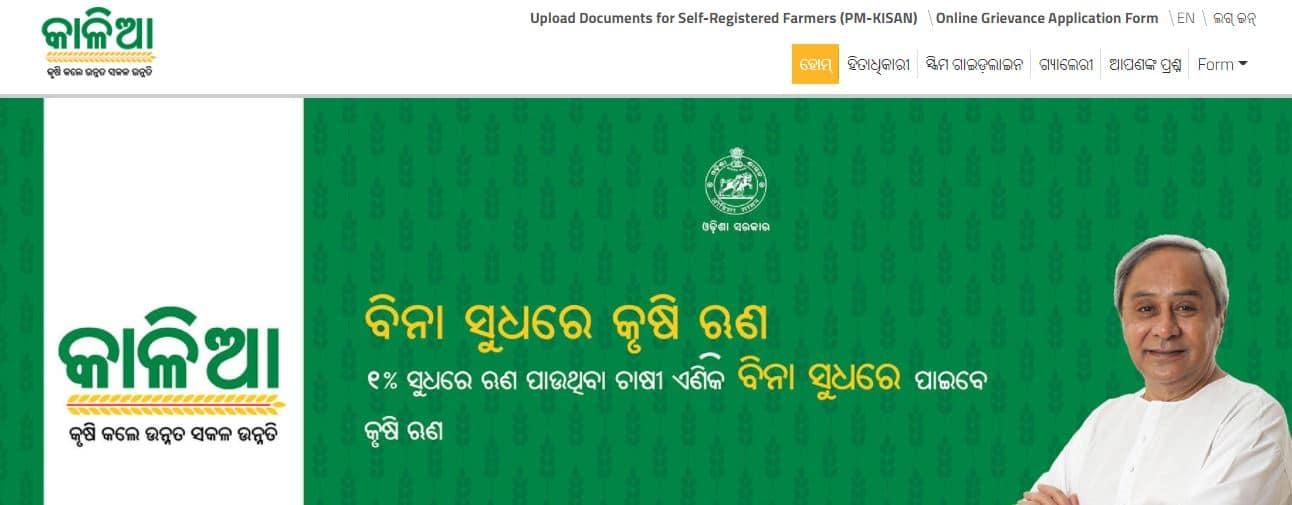 Odisha Kalia yojana apply online