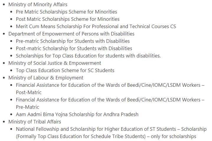 National Scholarship Portal (NSP) 2020