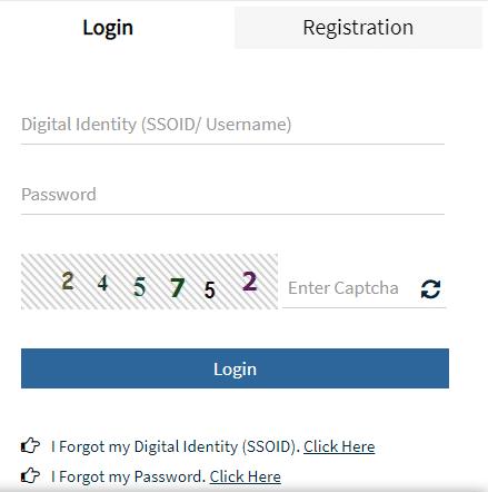 Emitra SSO ID Online Registration Procedure