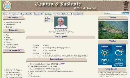 Jammu and Kashmir domicile certificate 2021