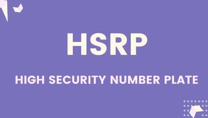 HSRP number Plate
