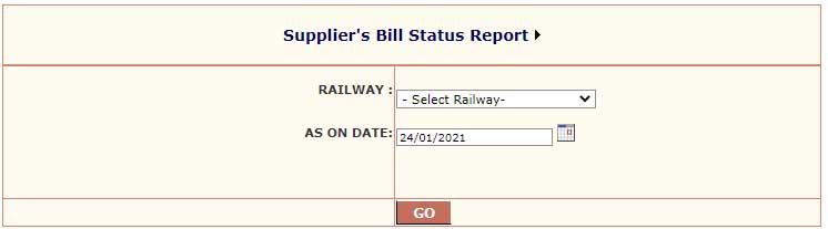 suppliers bill status report