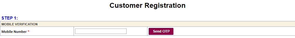 Customer Registration For Online Sand Booking Portal