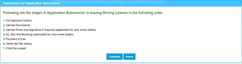 Apply Driving Licence Online 2021