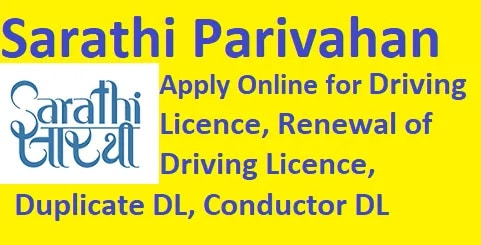 Apply (DL) Sarathi Learning License at sarathi.parivahan.gov.in