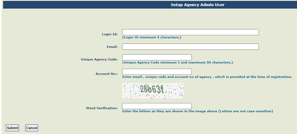 Get Login Details If Agency Is Already Registered