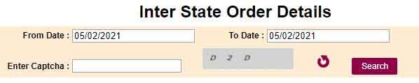 Inter-State Order Details