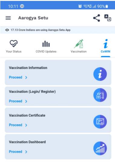 Covid Certificate iN india
