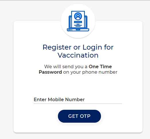 CoWin Portal user Registration