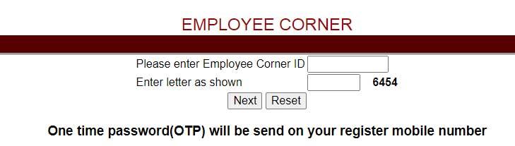 Reset CISF Employee Corner Login Password