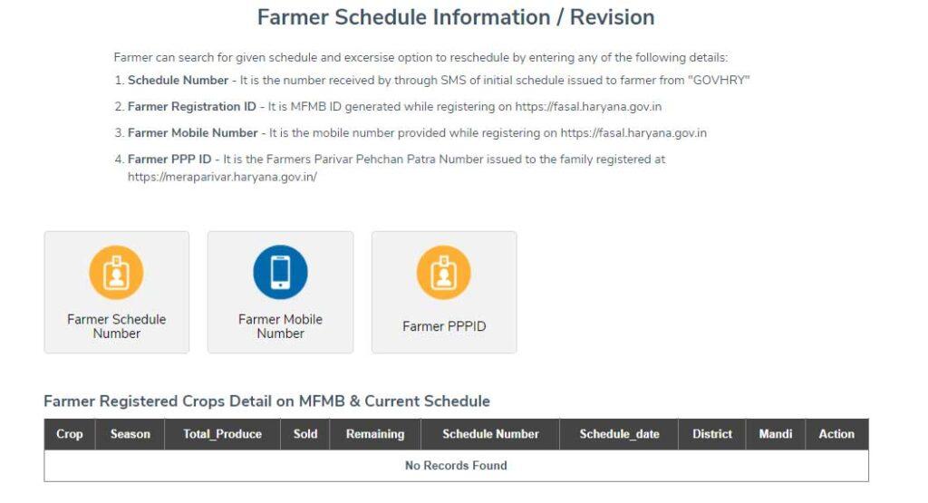 Farmer Schedule