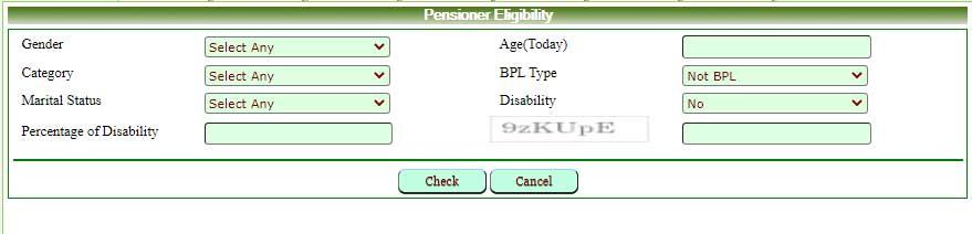 check pensioner eligibility By criteria